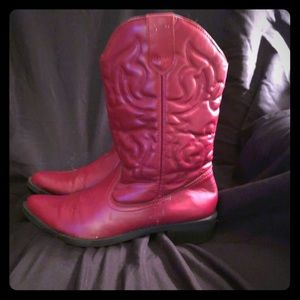 Women's Red Western Boots